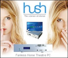 Hush Fanless Media Centre PC